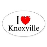 """I Love Knoxville"" Oval Decal"
