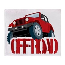 Red 4X4 off-roader Throw Blanket