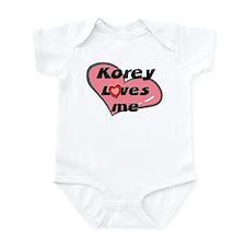 korey loves me  Infant Bodysuit