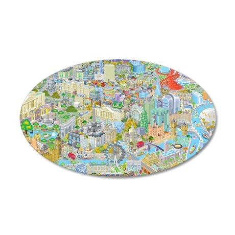 London and the Olympics 35x21 Oval Wall Decal