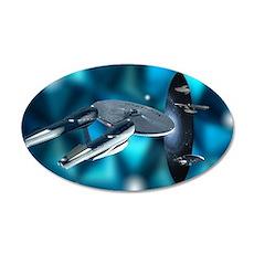 star trek enterprise 35x21 Oval Wall Decal