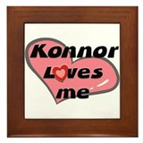 konnor loves me  Framed Tile