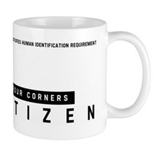 Four Corners, Citizen Barcode, Mug
