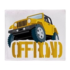 Yellow 4X4 off-roader Throw Blanket