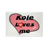 kole loves me Rectangle Magnet