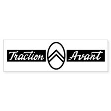 Citroën Traction Avant script emb Bumper Sticker