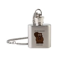 Pickup Artist Beaver Flask Necklace