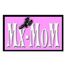 Mx-MoM white,pink& black Rectangle Decal