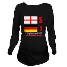 England Long Sleeve Maternity T-Shirt