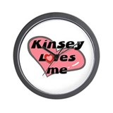 kinsey loves me  Wall Clock