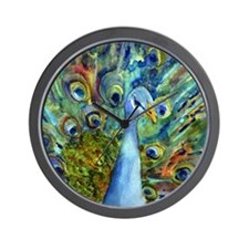 Peacock Party Wall Clock