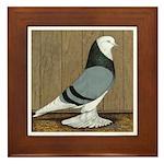 Blue Bald West Framed Tile