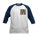 Blue Bald West Kids Baseball Jersey