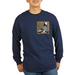 Blue Bald West Long Sleeve Dark T-Shirt