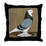 Blue Bald West Throw Pillow