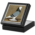 Blue Bald West Keepsake Box