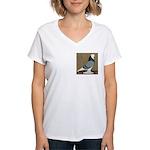 Blue Bald West Women's V-Neck T-Shirt