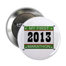 "My First Marathon Bib - 2013 2.25"" Button"