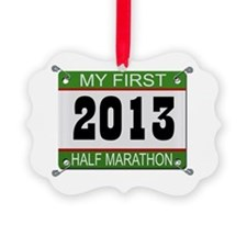 My First 1/2 Marathon - 2013 Picture Ornament