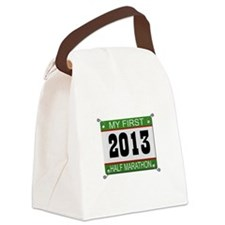 My First 1/2 Marathon - 2013 Canvas Lunch Bag