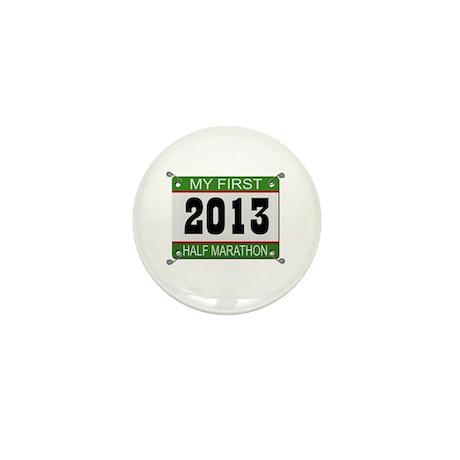 My First 1/2 Marathon - 2013 Mini Button