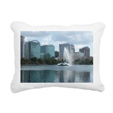 Lake Eola Park Fountain  Rectangular Canvas Pillow