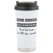 Proof that Insanity Does not Sk Travel Mug
