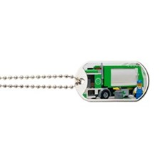 garbage truck blocks Dog Tags