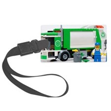 garbage truck blocks Luggage Tag