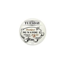 Pig `n a poke Mini Button