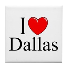 """I Love Dallas"" Tile Coaster"