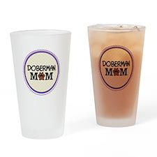 Doberman Dog Mom Drinking Glass