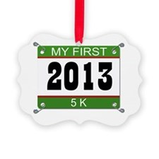 My First 5K Bib - 2013 Ornament