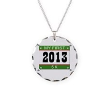 My First 5K Bib - 2013 Necklace
