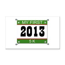 My First 5K Bib - 2013 Rectangle Car Magnet