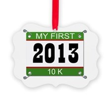 My First 10K Bib - 2013 Picture Ornament