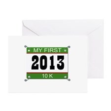 My First 10K Bib - 2013 Greeting Cards (Pk of 20)