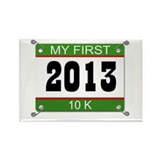 My First 10K Bib - 2013 Rectangle Magnet