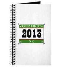 Our First 5K Bib - 2013 Journal