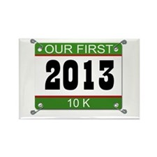 Our First 10K Bib - 2013 Rectangle Magnet (10 pack