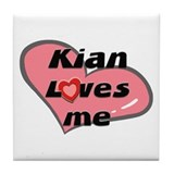 kian loves me  Tile Coaster
