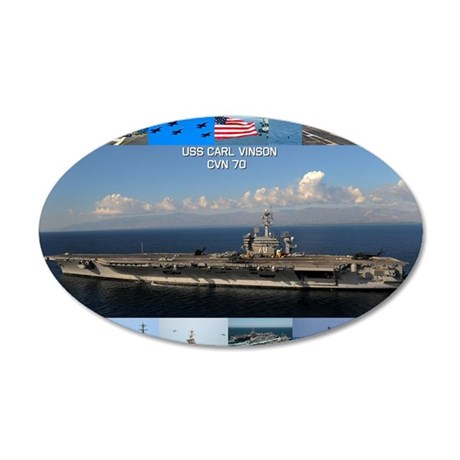 USS Carl Vinson Poster 35x21 Oval Wall Decal