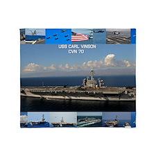 USS Carl Vinson Poster Throw Blanket