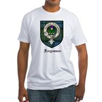 Fergusson Clan Crest Tartan Fitted T-Shirt