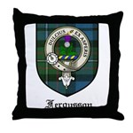 Fergusson Clan Crest Tartan Throw Pillow