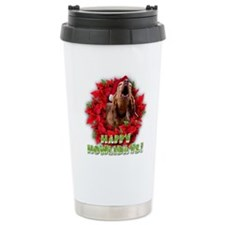 Redbone Coonhound baying Ceramic Travel Mug