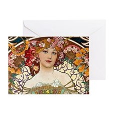 Mucha Greeting Card