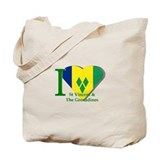I love St Vincent flag Tote Bag