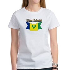 St Vincent flag ribbon Tee