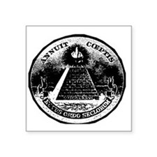 "Illuminati Giving the Finge Square Sticker 3"" x 3"""